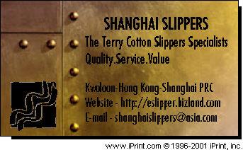 Shanghai Slippers